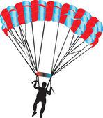 Parachutiste - vecteur — Vecteur
