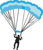 Paratrooper — Vector de stock