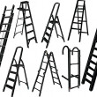 Ladders collection — Stock Vector #3715684