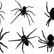 Stock Vector: Spiders silhouette