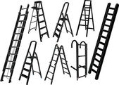 Ladders collection — Stock Vector