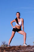 Asian Femal Runner — Stock Photo