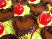 Pie with cherry. — Stock Photo