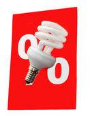 Power saving up bulb — Stock Photo