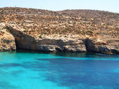 Malta, blue lagune — Stock Photo