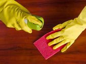 Cleaning furniture — Stock Photo