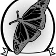 Illustrated Gray scale Monarch Butterfly — Stock Vector #2770871