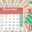 December 2010 Calendar with Elf Woman — Stock Vector