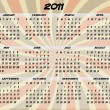2011 Full Year Transparent Swirl Calendar — Stockvektor