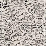 Collage of comic book dialogue bubbles — Stock Vector