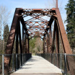 Railroad Bridge Hiking Trail — Stock Photo
