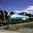 Stock Photo: Airplane Fuselage on Railcar