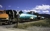 Airplane Fuselage on Railcar — Stock Photo