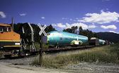Airplane Fuselage on Railcar — Stock Photo