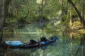 Kayak in the Spring — Stock Photo