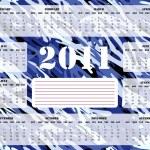2011 Calendar in Blue - Sunday Start — Stock Vector #3328065