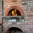 Wood-Fired Pizza Oven — Stock Photo