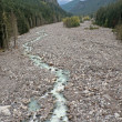 Nisqually River, Glacial Runoff River in Mount Rainier National — Stock Photo