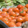 Piles of fresh tomatoes — Stock Photo