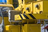 Mobile crane close-up — Stock Photo