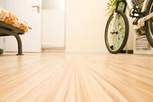Domestic Room with a Bicycle — Stock Photo