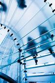 Modern Glass Staircase — Stock Photo