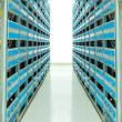 Servers in a datacenter — Stock Photo