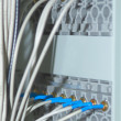 Royalty-Free Stock Photo: Shot of network cables and servers in a technology data center