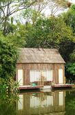 Villa on the lake — Stock Photo