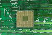 Centrala mikroprocessorer för en dator på kretskortet bakgrund — Stockfoto