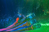 Network cable with fiber optical — Stock Photo