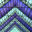 Contemporary office building blue glass wall detail — Stock Photo #3074636