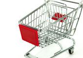 Shopping carts over white background — Stock Photo