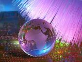 стиль технологии карты мира — Стоковое фото