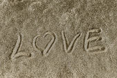 """I Love you"" in the sand — Foto Stock"