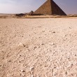 Pyramid in the desert — Stock Photo