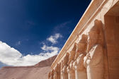 Stone statues in Egyptian temple — Stock Photo