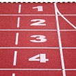 Stock Photo: Track lanes, numbers