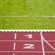Track lanes, numbers — Stock Photo