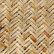 Close-up of a weaved basket in a natural — Stock Photo