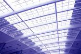 Glass corridor in office centre — Stock Photo
