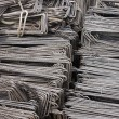 Reinforcing steel background — Stock Photo