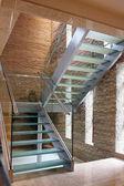 Skleněné schodiště — Stock fotografie