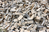 Pile of gray bricks at site of street repair — Stock Photo