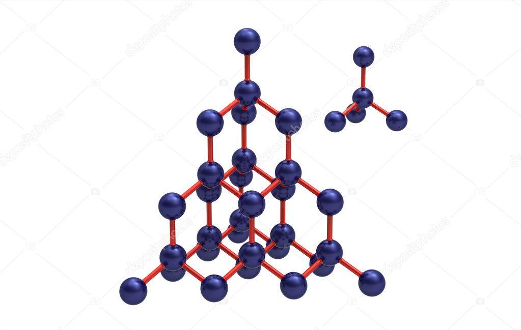 Модель кристаллической решётке алмаза - Стоковое фото Boris15 #2979728