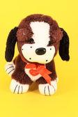 Colorful little dog of plush — Stock Photo