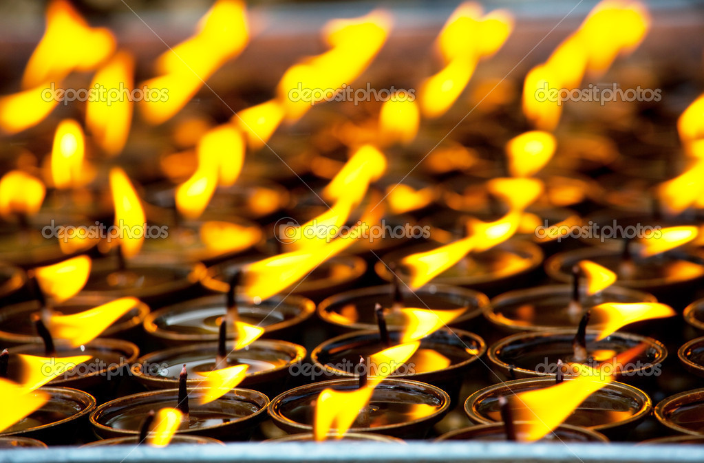 Candles at  temple — Stock Photo #2967356