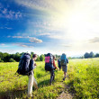 Summer hike - Stock Photo