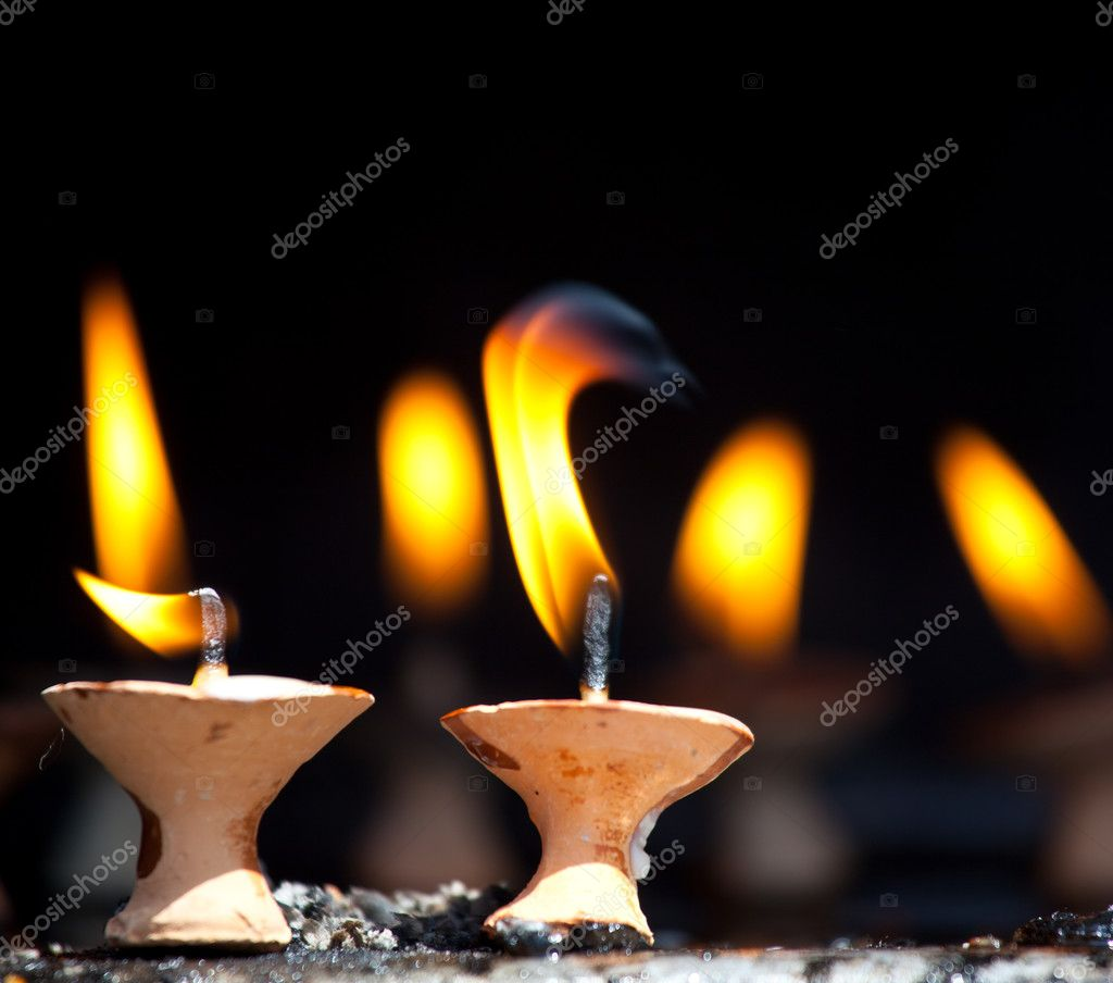 Candles at  temple — Stock Photo #3052510