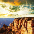 Grand Canyon on sunset - Stock Photo